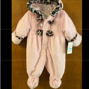 Rothschild Baby-Girls Newborn Plush Snowsuit